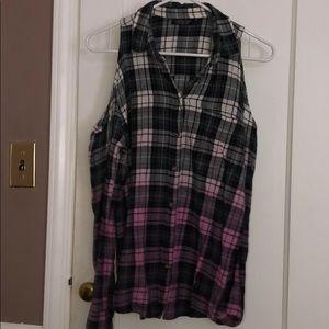 Cold Shoulder TopShop Flannel!